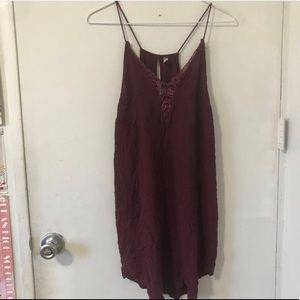 Intimately free People burgundy dress